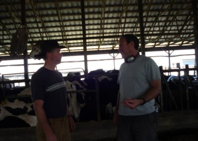 Dan and farm owner Charlie